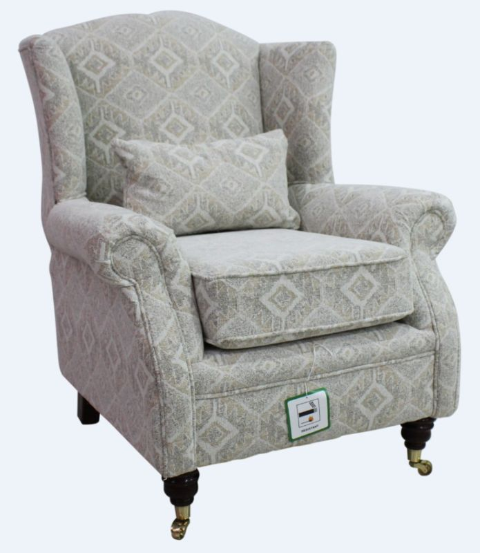 Elle Fabric Button Back Cocktail Chair Oatmeal