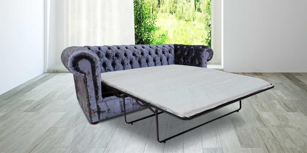 Chesterfield 3 Seater Settee Senso Dusk Velvet Sofabed Offer
