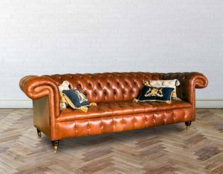 Chesterfield 1857 Leather Sofas | Made in UK | DesignerSofas4U