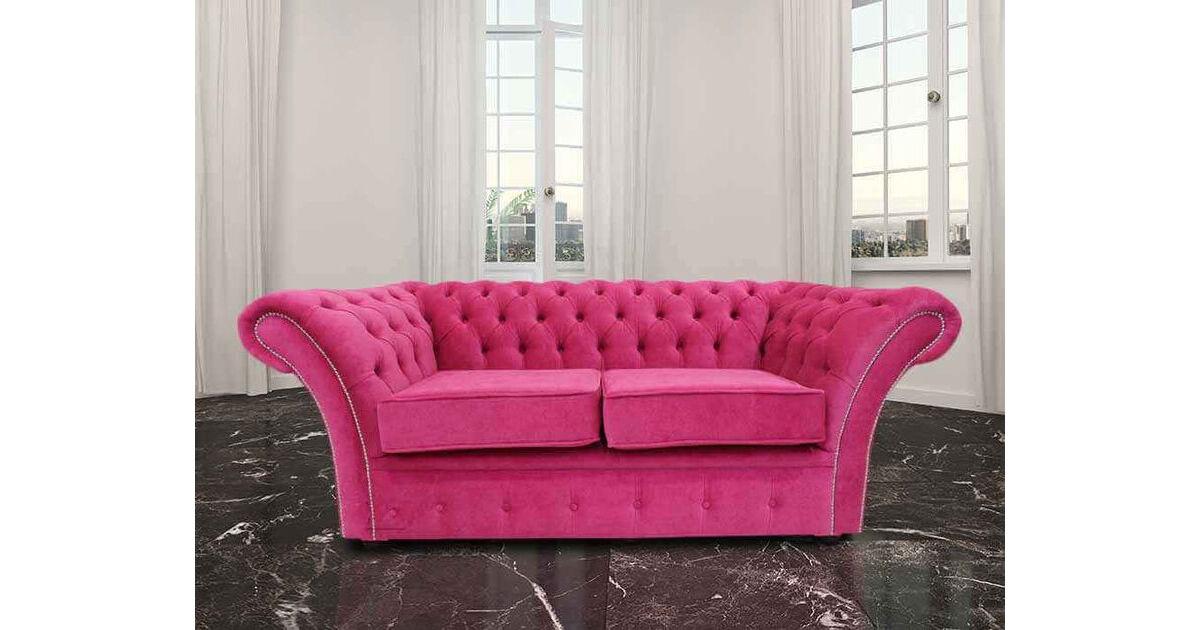 Chesterfield Balmoral 2 Seater Sofa Settee Danza Fuchsia