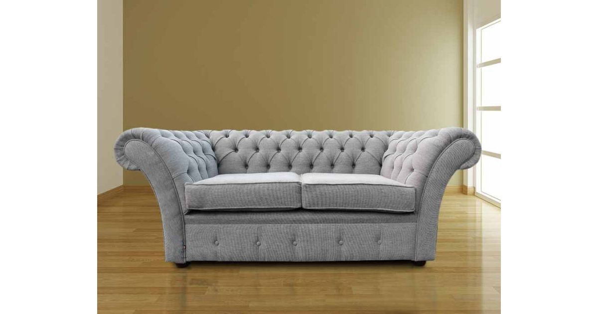 Buy Your Grey Silver Fabric Chesterfield Settee Online