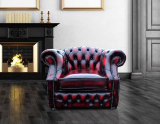 Chesterfield Buckingham Club ArmChair Antique Oxblood Leather