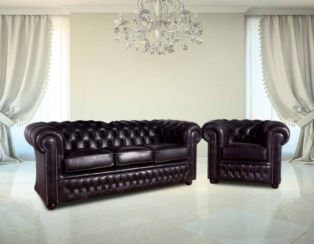 Buy Chesterfield furniture|Leather suite|DesignerSofas4U