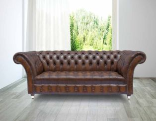 Chesterfield Grosvenor 3 Seater Leather Sofa