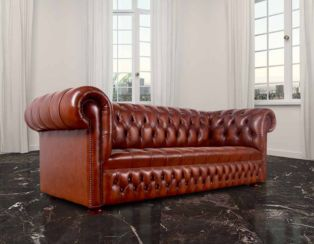 Chesterfield Hamilton Sofa UK Manufactured Leather Furniture