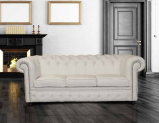 Sofa Leather Chesterfield for Living Room | UK Manufacturer | DesignerSofas4U