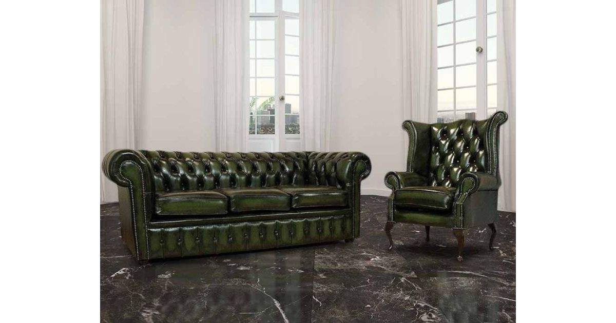 buy leather 3 1 seat chesterfield suite designersofas4u. Black Bedroom Furniture Sets. Home Design Ideas