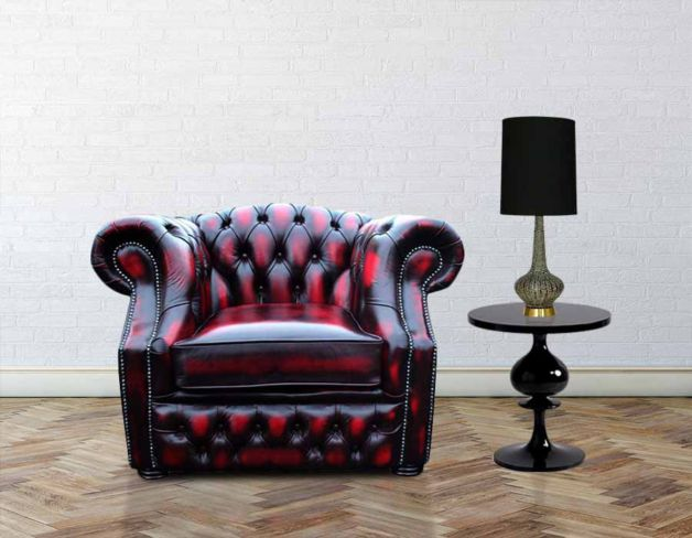Chesterfield Oxley Club ArmChair Antique Oxblood Leather