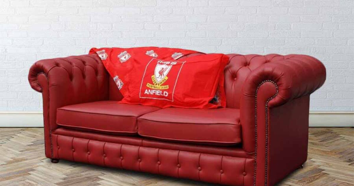 Buy Liverpool Sofa Bed Red Chesterfield Designersofas4u