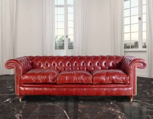 Chesterfield Rochester 3 Seater Leather Sofa UK Manufactured