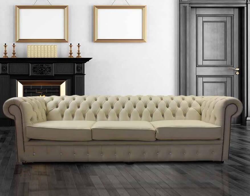 Designersofas4u Buy Cream Leather Chesterfield Sofa Uk