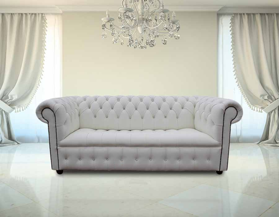 White Chesterfield Crystal Crystal Sofa Designersofas4u