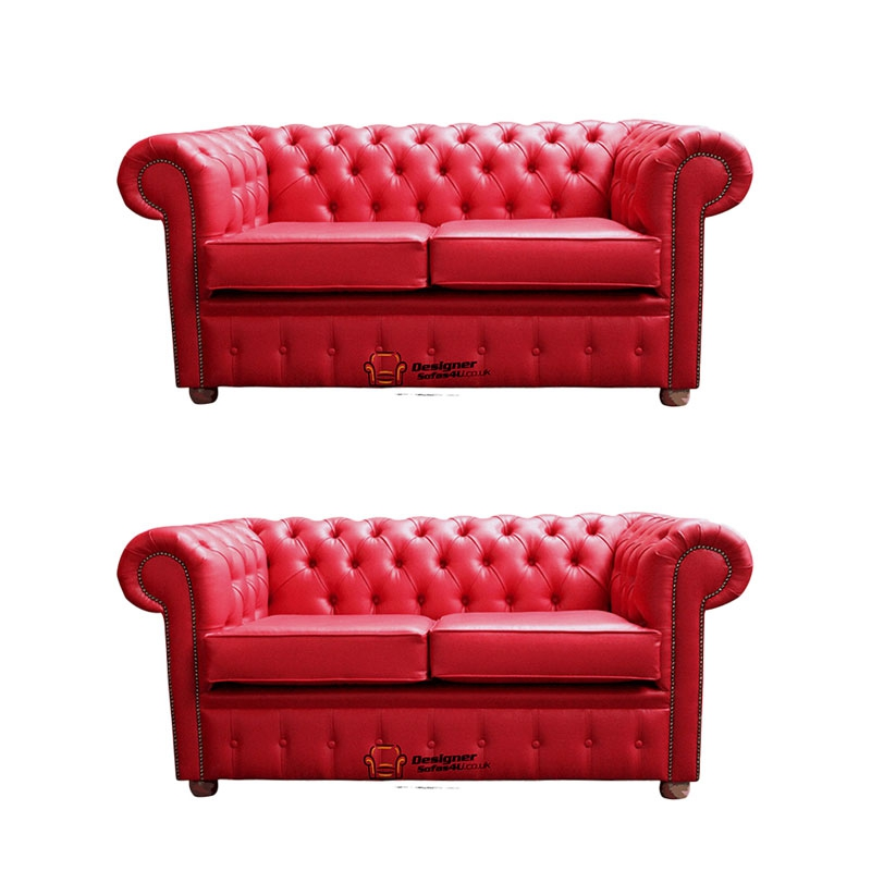 info for 08926 f1b30 Chesterfield 2+2 Old English Gamay Red Sofa Offer