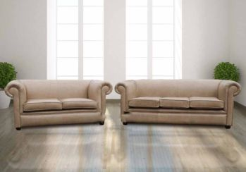Buy Cream Leather Chesterfield Furniture|Designer Sofas For You|DesignerSofas4U