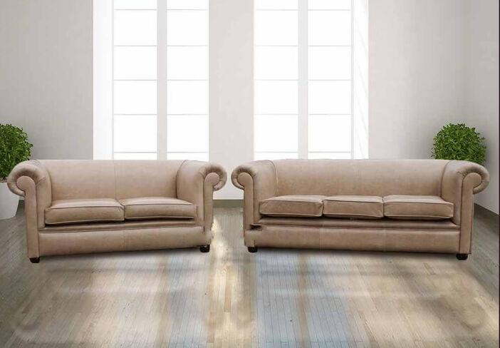 Tremendous Buy Cream Leather Chesterfield Furniture Designer Sofas For You Designersofas4U Home Interior And Landscaping Mentranervesignezvosmurscom