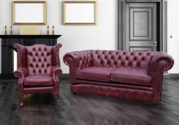 Buy leather suite offer vintage leather|Chesterfield furniture|DesignerSofas4U