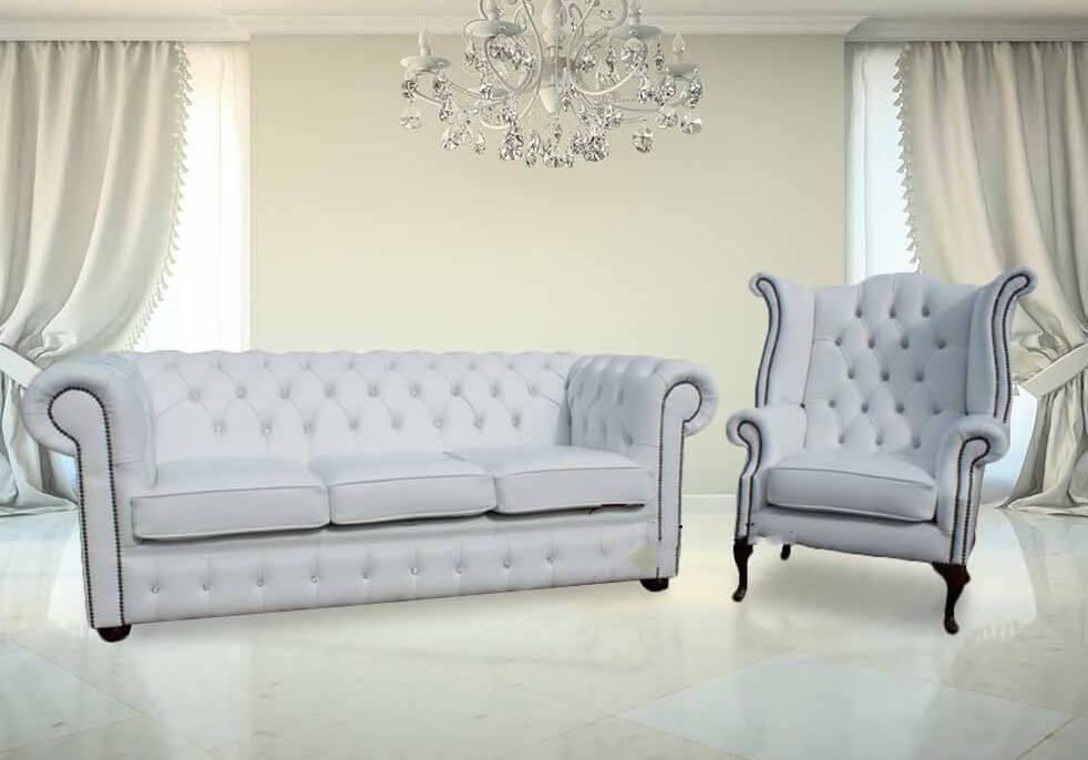 Marvelous Chesterfield 3 1 Crystal Diamond White Leather Sofa Offer Ibusinesslaw Wood Chair Design Ideas Ibusinesslaworg