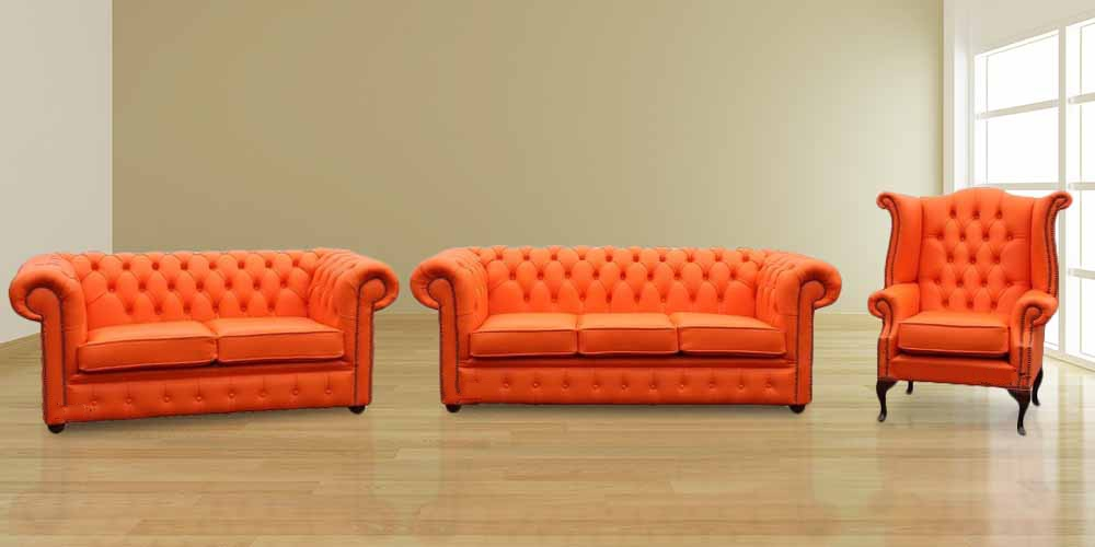 Buy Chesterfield Suite Leather Furniture Designersofas4u