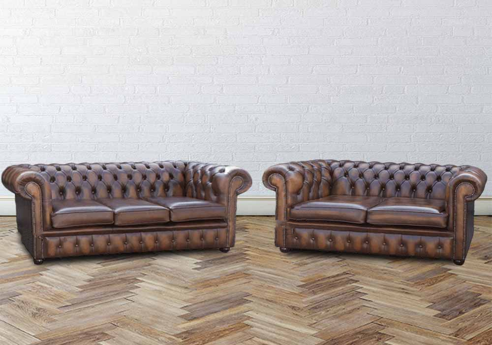 Buy Orignal Chesterfield Sofa Antiqued Tan Leather Sofa Sale