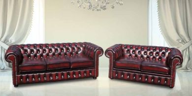 Chesterfield 3+2 Suite CRYSTALLIZED™ Diamond Leather Sofa Offer