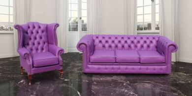 Buy bespoke leather sofa suite|Chesterfield furniture online|DesignerSofas4U