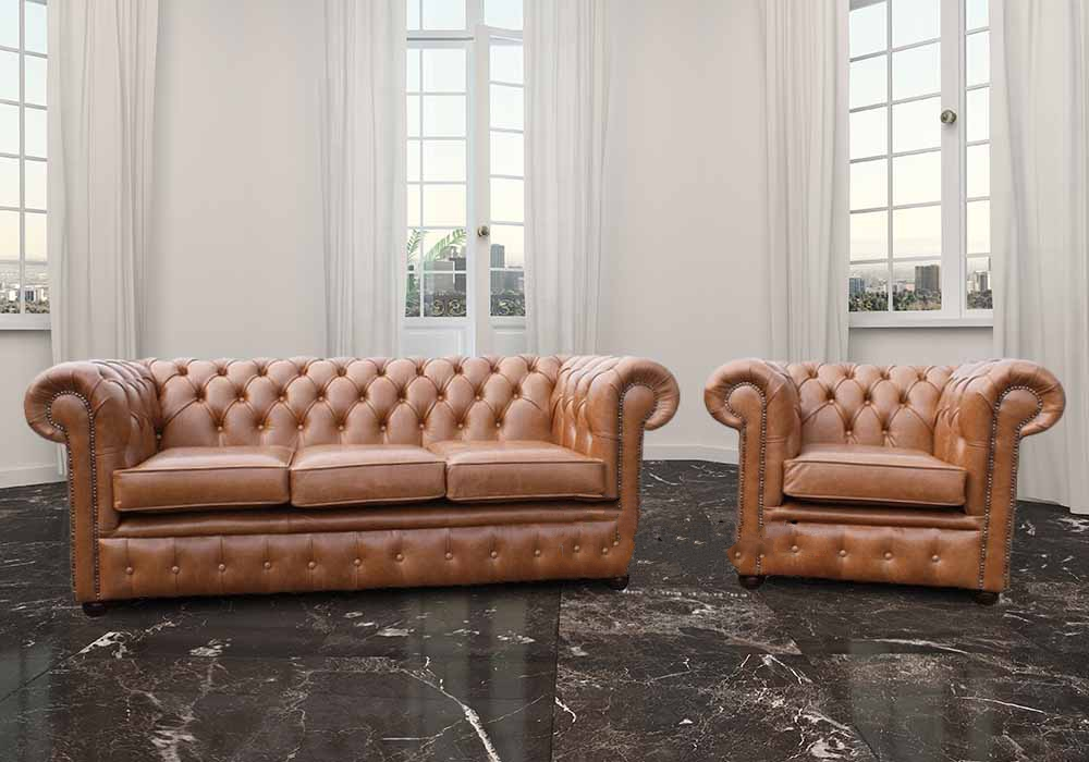 Buy Chesterfield 3 1 Seat Set Made In Uk Designersofas4u