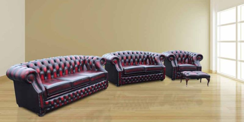 Chesterfield Leather Sofas Buckinghamshire|Red Leather Sofas…