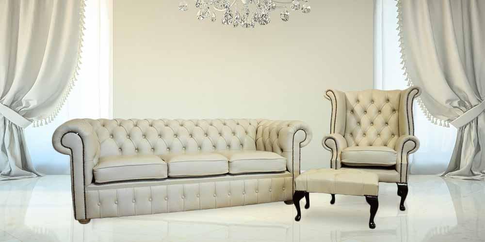 buy chesterfield suite leather furniture designersofas4u. Black Bedroom Furniture Sets. Home Design Ideas