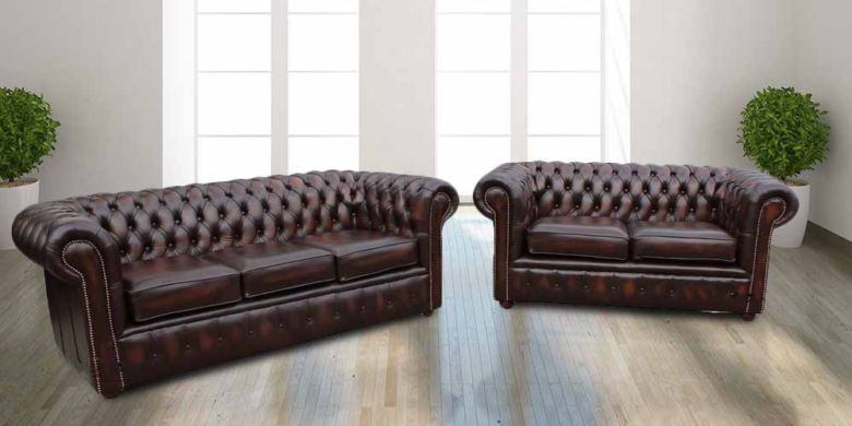 Chesterfield Sofa Suite London | Leather furniture|DesignerSofas4U