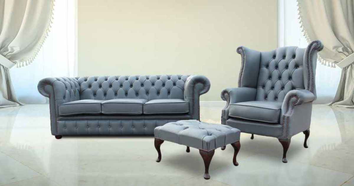 Buy leather Chesterfield suite|Made in UK|DesignerSofas4U