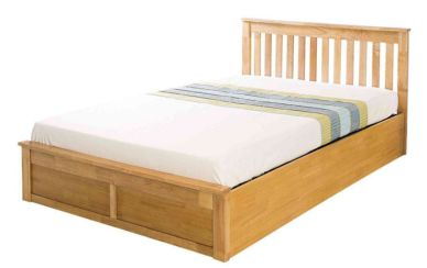 Como Double Wooden Storage Bedstead