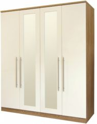 Keswick 4 Door Wardrobe With Mirrors