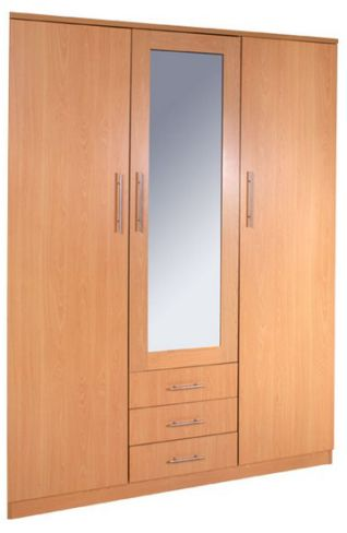 Las Vegas 3 Door Wardrobe with Mirror