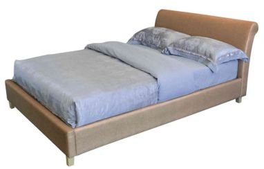 Louisa Kingsize Sand Fabric Upholstered Bed