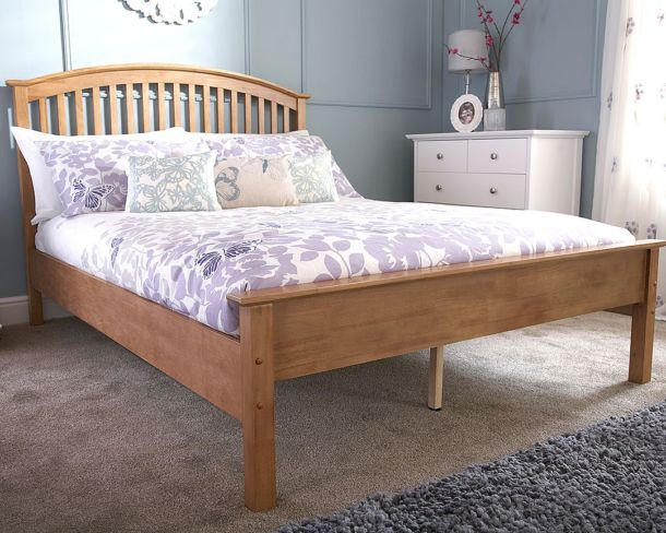 MADRID Wooden Bedstead Low Foot 3'