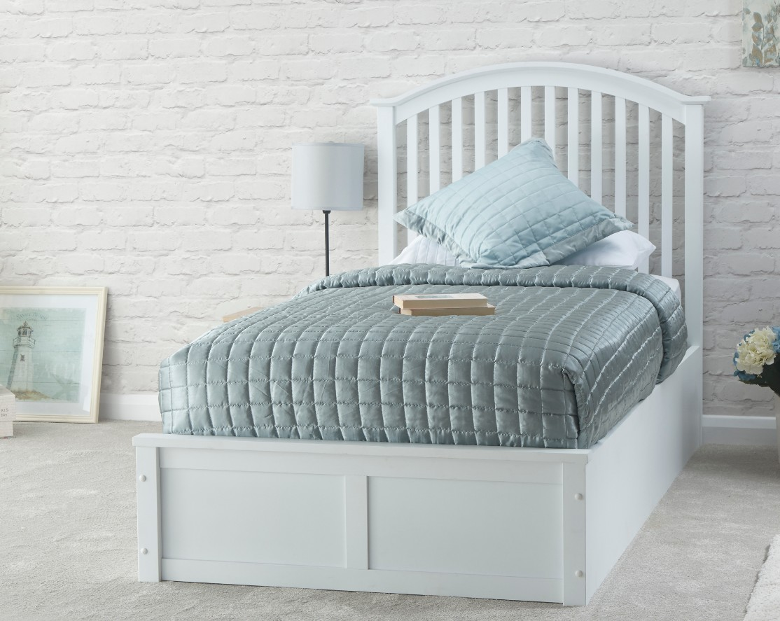 Picture of: Madrid Single Ottoman Storage Bed White
