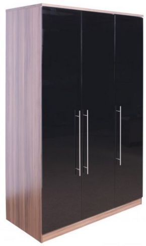 Modular High Gloss 3 Door Wardrobe
