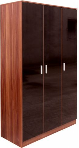 Ottawa Black Walnut 3 Door Wardrobe