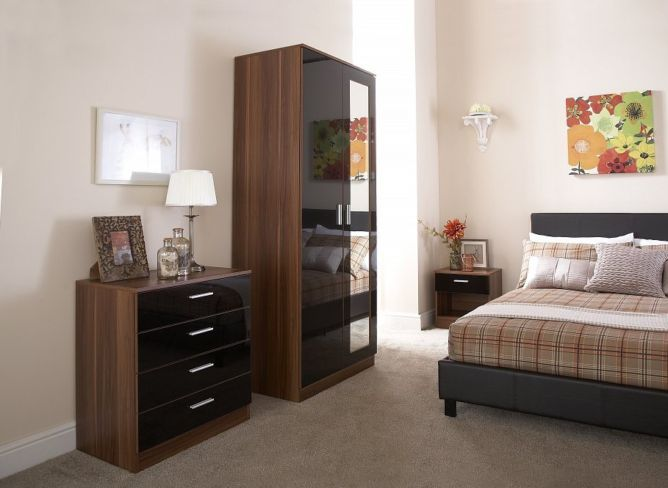 Ottawa 3 Piece Bedroom Set Black Walnut