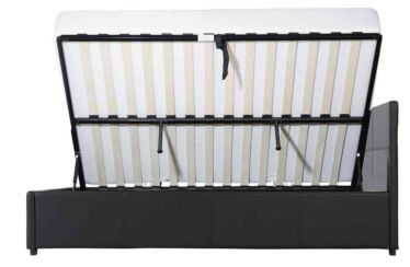Seattle 4ft Small Double Dual Side Opening Gas Lift Bedstead Available In Black Or Brown