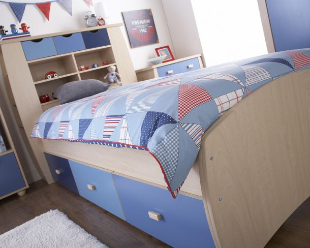 SYDNEY Single Bed including 3 Drawers