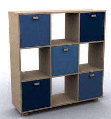 Sydney 3x3 Cube Storage Unit Blue