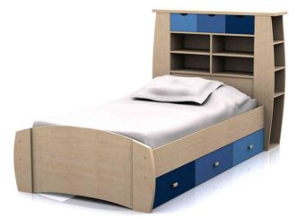 Sydney Single Children's Storage Bed Blue