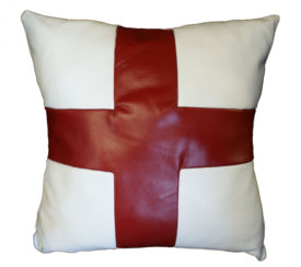 St George England Real Leather Cushion