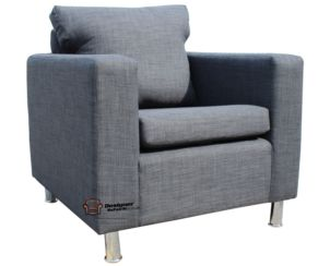 Apartment Armchair Sofa Upholstered In Charles Charcoal