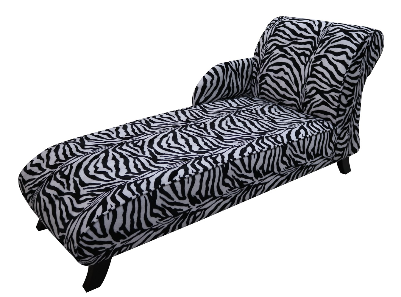 Incredible Zebra Fabric Chaise Lounge Seat Free Warranty Vintage Andrewgaddart Wooden Chair Designs For Living Room Andrewgaddartcom