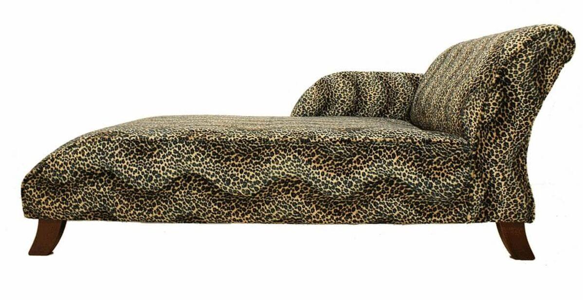 Pleasant Sand Loepard Fabric Chaise Lounge Seat Free Warranty Designersofas4U Squirreltailoven Fun Painted Chair Ideas Images Squirreltailovenorg