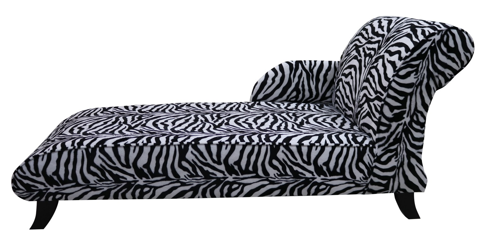 Awe Inspiring Zebra Fabric Chaise Lounge Seat Free Warranty Designersofas4U Andrewgaddart Wooden Chair Designs For Living Room Andrewgaddartcom