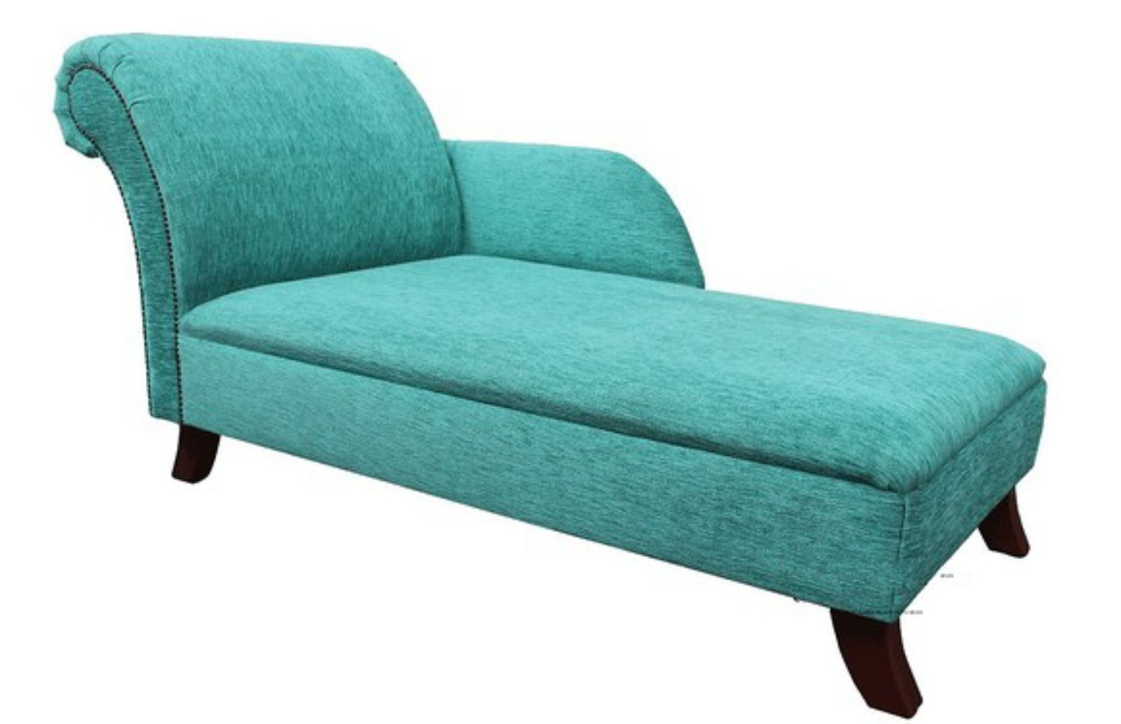 Chaise Lounge Day Bed Buttonless Turquoise