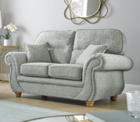 Claremont 2 Seater Sofa Settee Vulcan Chalk Fabric